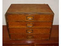 Vintage Specimen Cabinet / Stationary Drawers / EZY Series wood