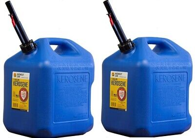 VP Racing NEW 4-Pack Round Blue Heavy Duty 5 Gallon 19L Fuel Jugs Race Gas Cans