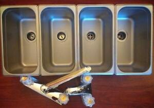 Sinks package for food truck - 3 compartment plus 1 hand wash- includes 2 faucets - Brand new - FREE SHIPPING