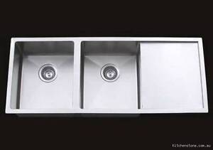 Double Undermount Sink With Drainer : ... Contemporary Square Undermount Kitchen Double Sinks with Drainer Board