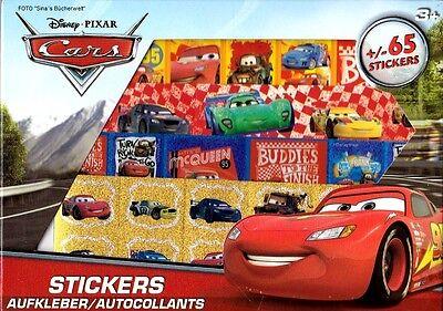 Sticker-Box Cars Disney Pixar ca. 65 Sticker Aufkleber Stickerbuch NEU
