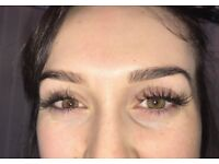 Eyelash extensions & eyebrow tinting and waxing