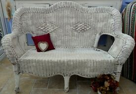 Shabby chic conservatory settee