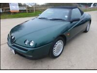Alfa Spider 2.lt Twinspark in fantastic condition Mot until 22nd Aug 2018