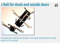 J-Bolt for sheds and outside doors