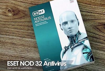 Eset Nod32 Antivirus   Version 10 On 2017  1 Year   2 Pcs  For Windows