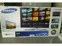 "Brand new boxed Samsung 55"" LED smart 3D wifi built USB MEDIA"