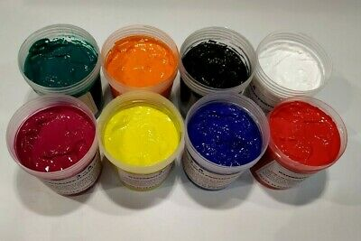 Water Based Screen Printing Ink For Fabric Paper And Card. Starter Kit 8 Color