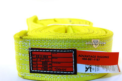 Ee2-903 X20ft Nylon Lifting Sling Strap 3 Inch 2 Ply 20 Foot Usa Package Of 4