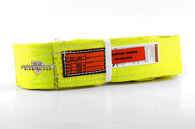 Ee2-903 X4ft Nylon Lifting Sling Strap 3 Inch 2 Ply 4 Foot Usa Made Package Of 4