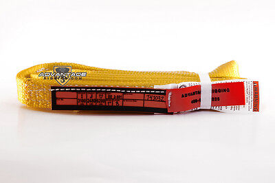 Ee2-901 X8ft Nylon Lifting Sling Strap 1 Inch 2 Ply 8 Foot Feet Length Usa Made