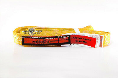 Ee2-901 X10ft Nylon Lifting Sling Strap 1 Inch 2 Ply 10 Foot Length Usa Made