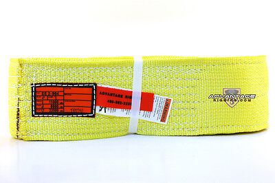 Ee2-904 X8ft Nylon Lifting Sling Strap 4 Inch 2 Ply 8 Foot Usa Made Package Of 4