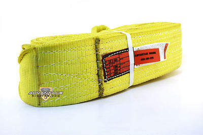 Ee2-904 X12ft Nylon Lifting Sling Strap 4 Inch 2 Ply 12 Foot Usa Package Of 4
