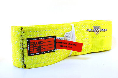 Ee2-904 X10ft Nylon Lifting Sling Strap 4 Inch 2 Ply 10 Foot Feet Usa Made