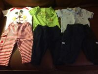 Three spring/fall outfits size 6-9 months
