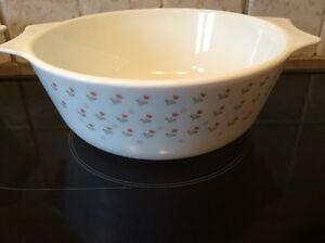 PYREX england vintage  AN 1980  Anchor Hocking FLEURS tulipe