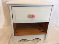 Pretty painted pine bedside Cabinet
