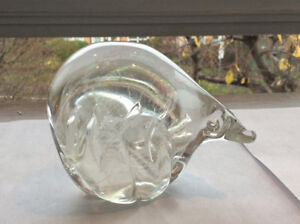 Hand Blown, Rocky Mountain Bear with Northern Lights
