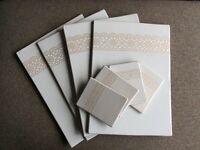 Ceramic table mat and coaster set cream immaculate