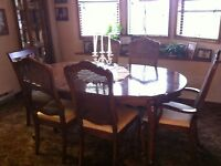 vintage dining room suite- French provincial
