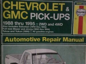 HAYNES Chev & GMC Manual (read AD)