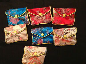 New 7 PC Small Colourful Jewerly Pouch -------$10.00