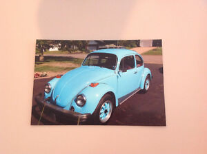 Beautiful blue Beetle VW, 1975, very good condition, so pretty