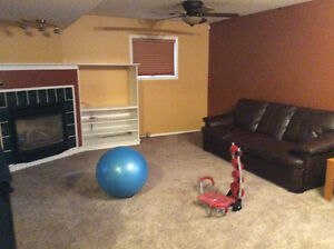 2 bed room basement apartment for rent.