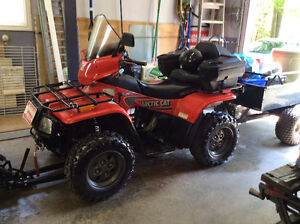 2003 Arctic Cat 250 4x4 with Trailer and Snow Plow