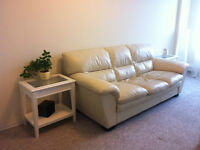 Leon's ivory leather sofa - $500 OBO