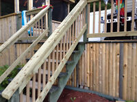 Plastic cedar colored deck spindals