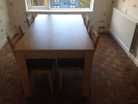 Chiltern dining table and four chairs