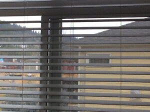 Faux wood blinds for sale 2 inch slats. Off white. $100 for all.