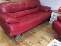 TWO LEATHER SOFAS, FREE LOCAL DELIVERY.