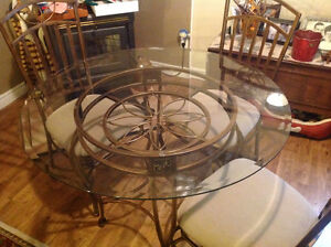 Glass Top Dining Table and 4 chairs**SOLD**