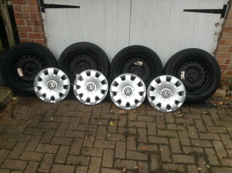 Golf steel rims, tyres and caps