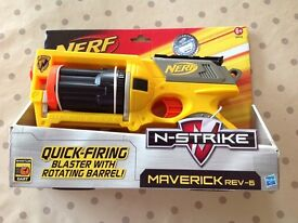 Nerf Gun Brand New in Box Maverick rev -6, N Strike Model