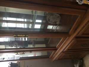 China cabinet oak selling because my apt is too small