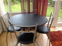 Oslo Circular Dining Table and 4 Chairs