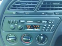 PEUGEOT 306 RADIO MODEL 3030. CODE AND INSTRUCTION MANUAL SUPPLIED WITH RADIO.