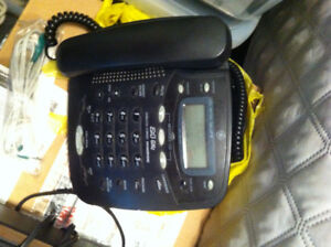 home phone with answering machine-black