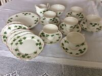 COLCLOUGH bone china tea service.Ivy leaf.
