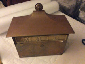 Solid heavy brass mailbox