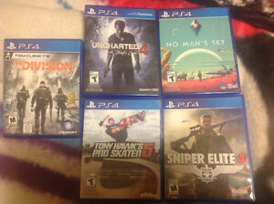 5 PS4 games  $90 for all 5 games