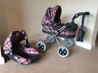 Childrens Kids Toy Pram & Baby Carrier
