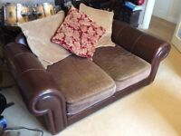 Sofa, Leather and Fabric, Great Condition