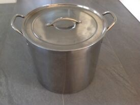 Large 15 Litre Stainless Steel Stock Pot