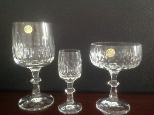 "Crystal Wine Glass Set-Echt Bleikristall ""Flamenco"" London Ontario image 1"
