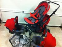Jane twone twin travel system